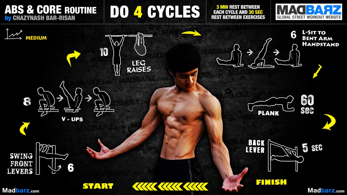 street workout exercises abs - st workout routine