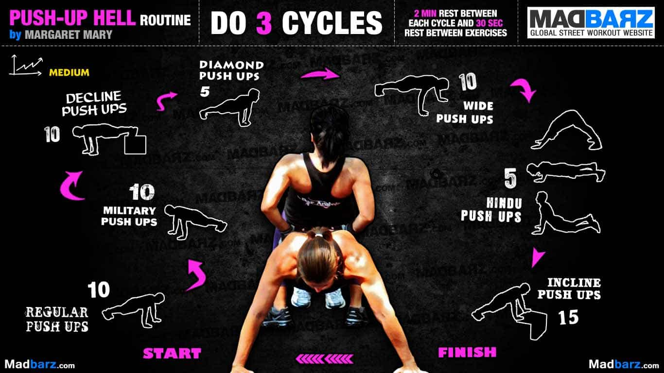 Push Up Hell Routine 1